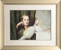Living room painting by Kacper Kalinowski titled Portrait
