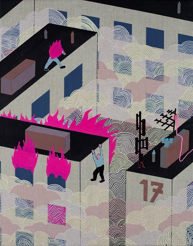 Obraz do salonu artysty Michał Cygan pod tytułem Smog IV