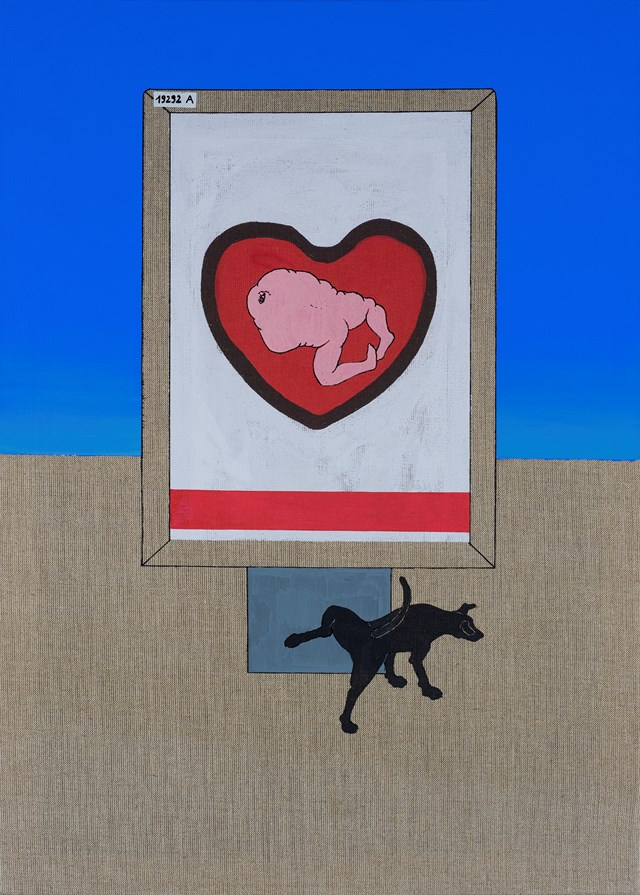 Obraz do salonu artysty Michał Cygan pod tytułem Billbord