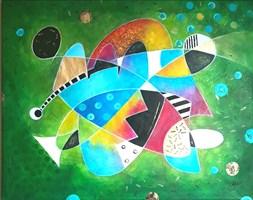 Obraz do salonu artysty Ewa Najdenow pod tytułem Facet w Czerni