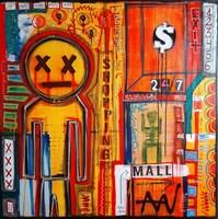 Obraz do salonu artysty Kamil Jaczyński pod tytułem ADVENTURE AT THE SHOPPING MALL