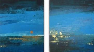 Obraz do salonu artysty Karolina  Miła pod tytułem Morze nocą (dyptyk)