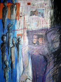 Obraz do salonu artysty Marcin Wąsik pod tytułem Ciężar siódmego dnia