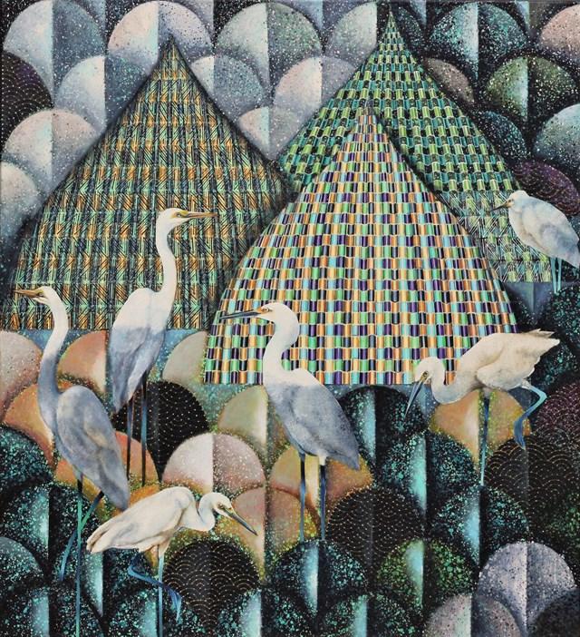 Obraz do salonu artysty Katarzyna Stelmach pod tytułem Mozaika IV