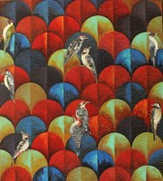 Obraz do salonu artysty Katarzyna Stelmach pod tytułem Dzięcioły