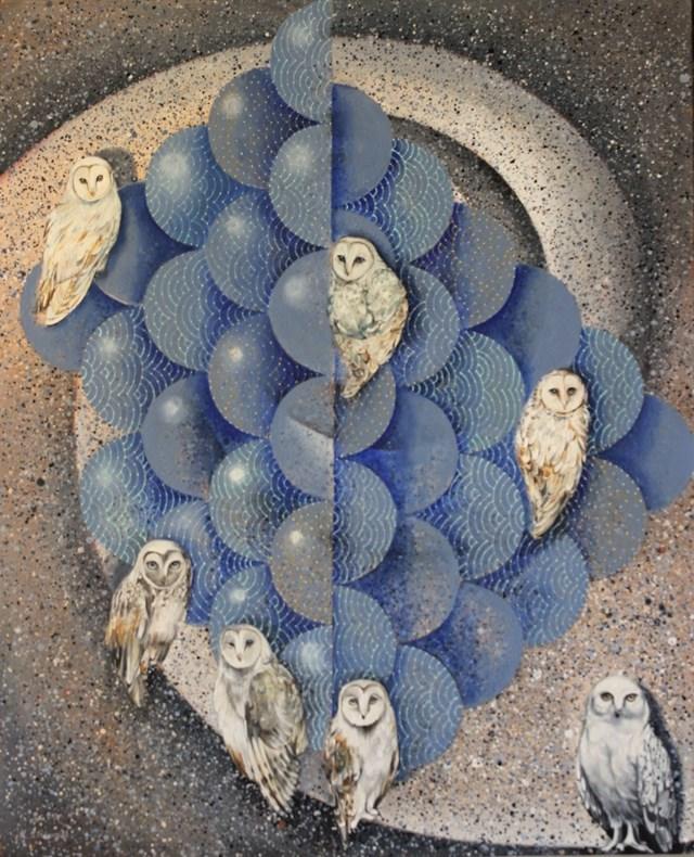 Obraz do salonu artysty Katarzyna Stelmach pod tytułem 7 sów