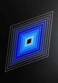 Obraz do salonu artysty Izabela Kozłowska pod tytułem Blue rhombus