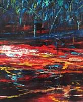 Obraz do salonu artysty Hanna Woźnica-Gierlasińska pod tytułem Czerwono-niebieski