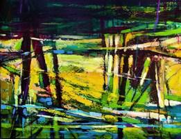 Obraz do salonu artysty Hanna Woźnica-Gierlasińska pod tytułem Wiosenny strumień