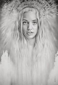 Obraz do salonu artysty Maria Szypluk pod tytułem Srebrna dama