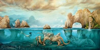 Obraz do salonu artysty Maria  Szypluk pod tytułem Tajemnice turkusowych głębin