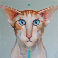 Obraz do salonu artysty Jadwiga Wolska pod tytułem Kot z Plejad