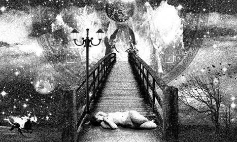 Grafika do salonu artysty Adam Kurłowicz pod tytułem Pokusa