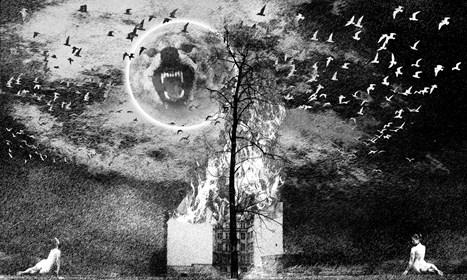 Grafika do salonu artysty Adam Kurłowicz pod tytułem Na krawędzi snu