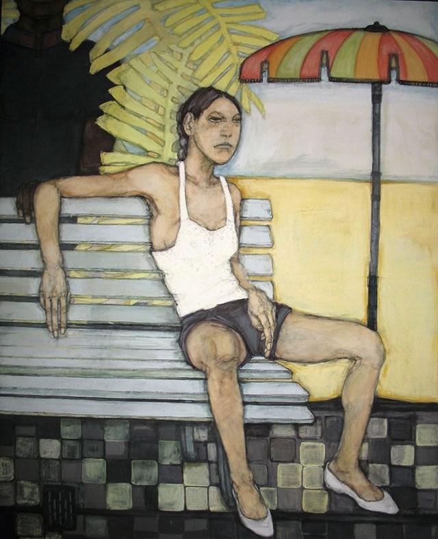 Obraz do salonu artysty Viola Głowacka pod tytułem Ławka