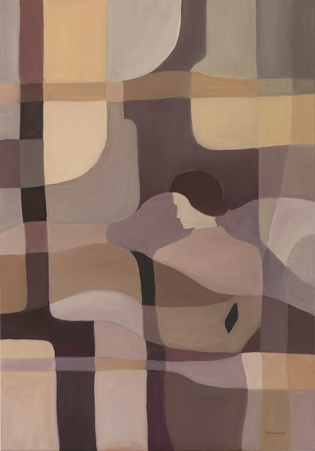 Living room painting by Agnieszka Krawczyk titled Penetration 2