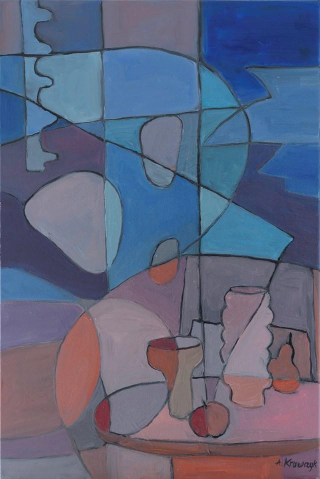 Obraz do salonu artysty Agnieszka Krawczyk pod tytułem Kompozycja  z martwą naturą  1