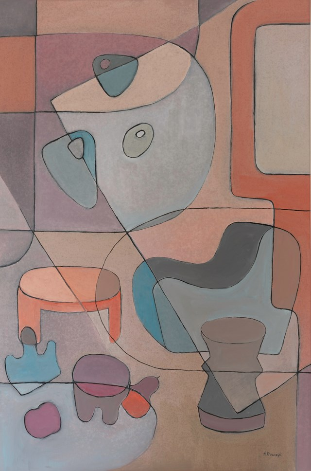 Living room painting by Agnieszka Krawczyk titled Composition with still life  2