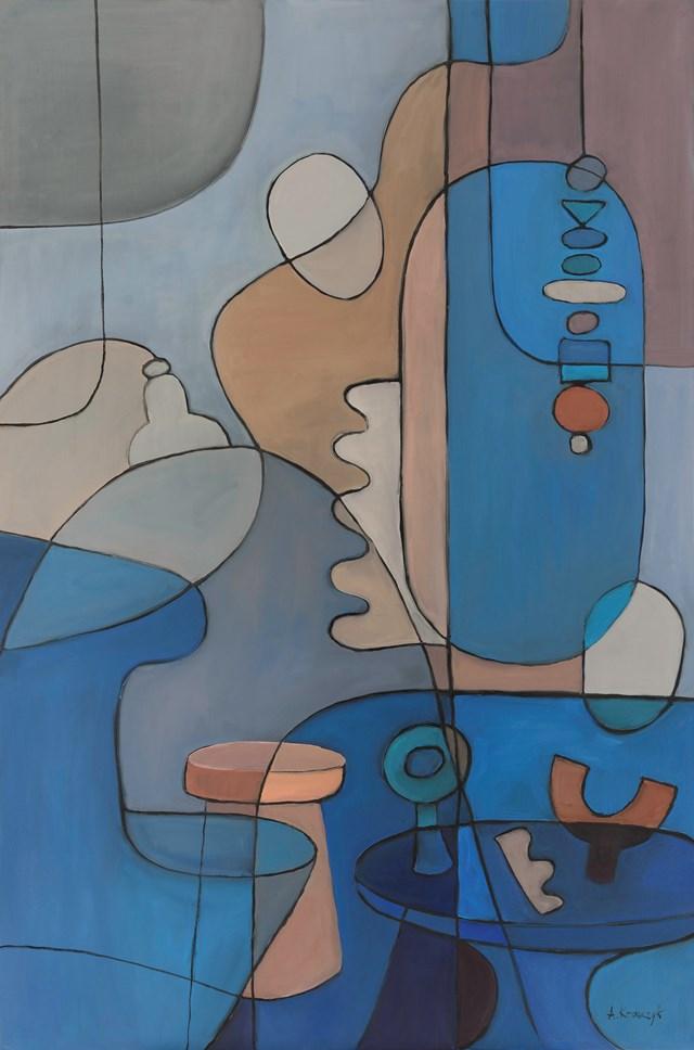 Obraz do salonu artysty Agnieszka Krawczyk pod tytułem Kompozycja  z martwą naturą  3