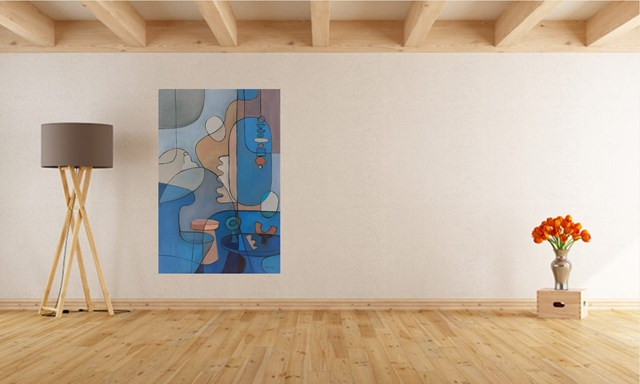 Kompozycja  z martwą naturą  3 - wizualizacja pracy autora Agnieszka Krawczyk