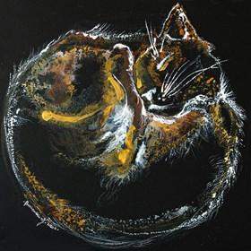 Obraz do salonu artysty Martyna Zaborska pod tytułem Galaxy Cat