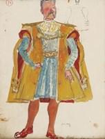 Obraz do salonu artysty Otto Axer pod tytułem Projekt kostiumu - Złoty kontusz