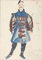 Obraz do salonu artysty Otto Axer pod tytułem Projekt kostiumu - Kontusz, lata 60. XX w.