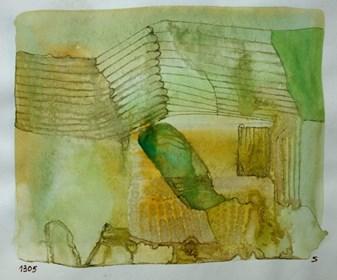 Obraz do salonu artysty Jerzy Stajuda pod tytułem Kompozycja 1305 IV