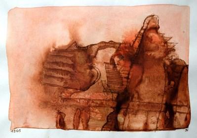 Obraz do salonu artysty Jerzy Stajuda pod tytułem Kompozycja 1305 VII