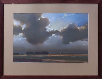 Obraz do salonu artysty Marian Michalik pod tytułem Pejzaż z chmurami