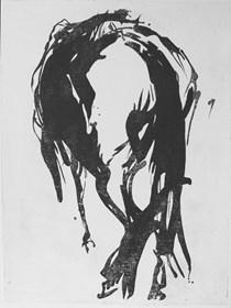 Grafika do salonu artysty Magdalena Gintowt-Juchniewicz pod tytułem Zamyślony
