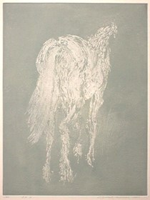 Grafika do salonu artysty Magdalena Gintowt-Juchniewicz pod tytułem equus w szarościach