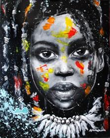 Obraz do salonu artysty Milena Chmielewska pod tytułem She is the color XXII
