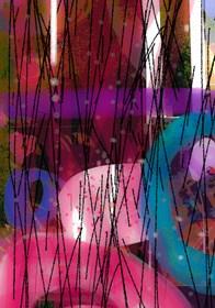 Obraz do salonu artysty Oliwia Hildebrandt pod tytułem Cykl Transparencje.  Kompozyty3