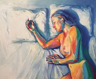 Obraz do salonu artysty Lidia Wnuk pod tytułem Lovers V
