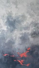 Obraz do salonu artysty Lidia Wnuk pod tytułem Notatki z patrzenia w niebo  III