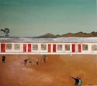 Obraz do salonu artysty Mariusz Makuła pod tytułem This is my desert adventure. Everything is dry, we are excited.