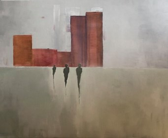 Obraz do salonu artysty Mariusz Makuła pod tytułem Three of them