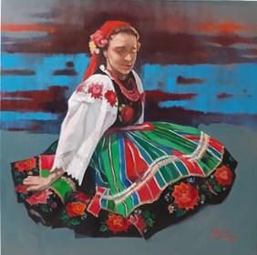 Obraz do salonu artysty Kamila Matkowska pod tytułem Łowiczanka