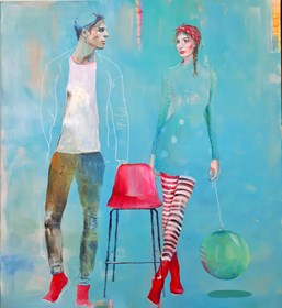 Obraz do salonu artysty AGNIESZKA BANASIAK pod tytułem Na dobry początek