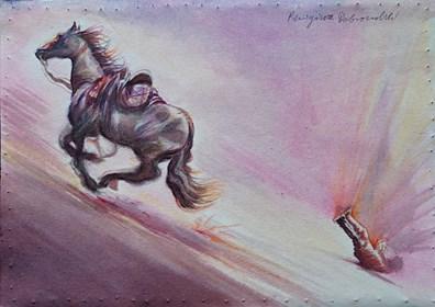 Obraz do salonu artysty Remigiusz Dobrowolski pod tytułem NAWRÓCENIE SZAWŁA