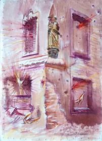 """Obraz do salonu artysty Remigiusz Dobrowolski pod tytułem Salvator Mundi (łac. """"Zbawiciel Świata"""")"""