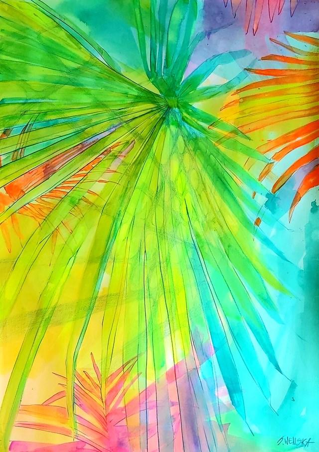 Obraz do salonu artysty Sylwia Wenska pod tytułem Tropikalia I