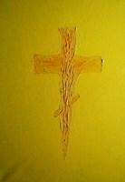 Living room painting by Jasiek Balcerzak titled Cross