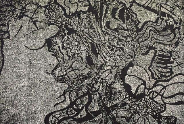 Grafika do salonu artysty Sebastian Skowronski pod tytułem Inner and Outer II, nakład: 4