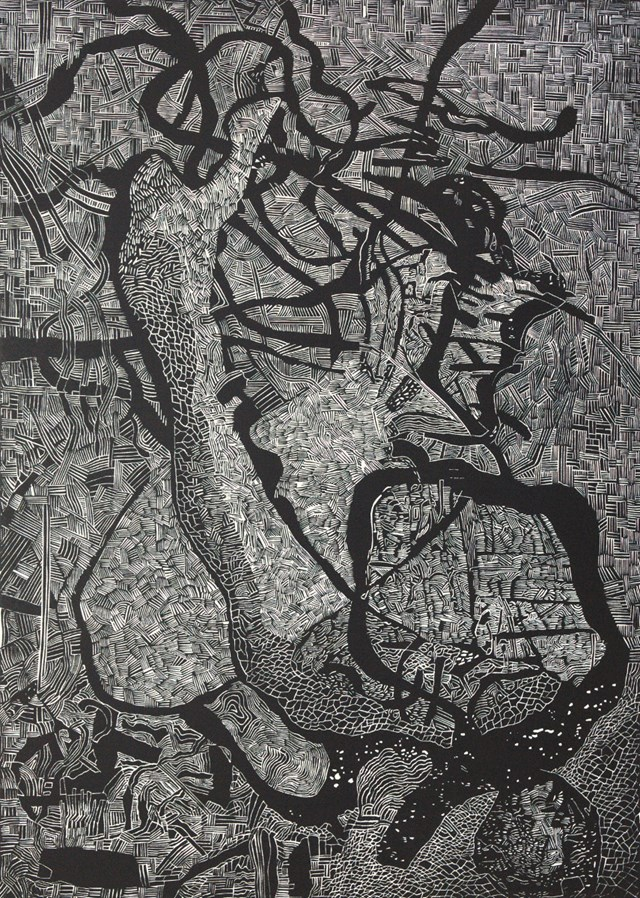 Grafika do salonu artysty Sebastian Skowronski pod tytułem Inner and Outer I, nakład: 4