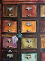 Obraz do salonu artysty Barbara M.Malinowska pod tytułem  Szuflady