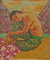 Grafika do salonu artysty Aleksandra Wiechowska pod tytułem Tahitanka