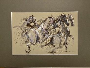 Obraz do salonu artysty Krzysztof Jarocki pod tytułem Bez tytułu 6