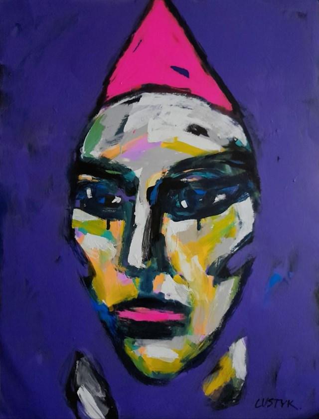 Obraz do salonu artysty Bogusław Lustyk pod tytułem Smutek